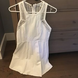 White mini dress AE size 4